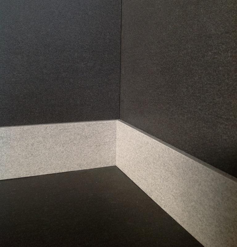 composizione d'angolo esterno battiscopa Slimtech plus basaltina sabbiata  Giorgio Ilari