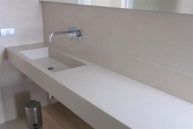 Piano e lavabo 4 in gres laminato slimtech giorgio ilari - Laminato in bagno ...